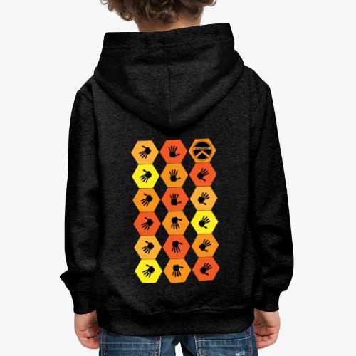 |K·CLOTHES| HEXAGON ESSENCE ORANGES & YELLOW - Sudadera con capucha premium niño