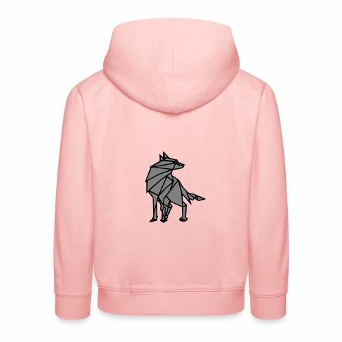 loup geometrique - Pull à capuche Premium Enfant