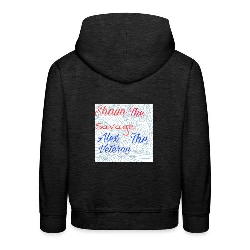 Grey hoodie with YouTube logo on back - Kids' Premium Hoodie
