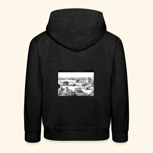 House of Dao - Temple BW - Kinder Premium Hoodie
