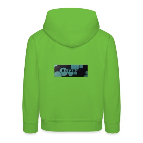 Extinct box logo - Kids' Premium Hoodie