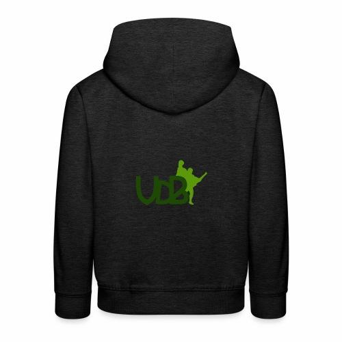 VdB green - Felpa con cappuccio Premium per bambini