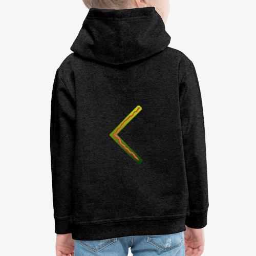 Farbenfrohes Runenmotiv in Trendfarben - Kinder Premium Hoodie