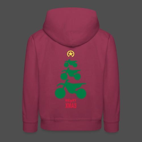 Merry Christmas - Frohe Weihnachten - Bluza dziecięca z kapturem Premium