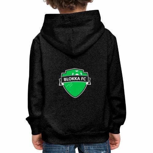 Blokka FC - Grønn logo - Premium Barne-hettegenser
