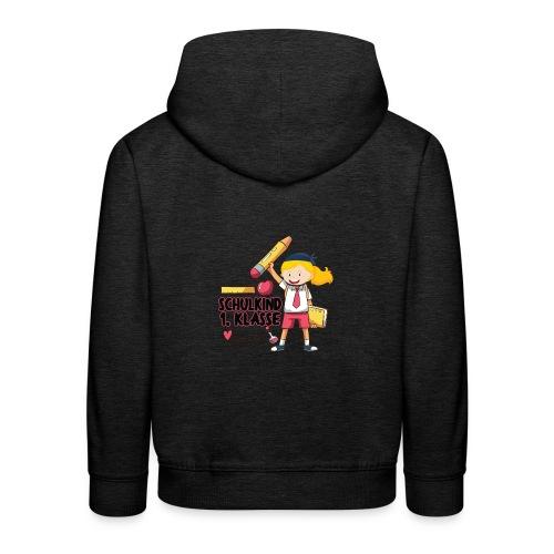 Schulkind 1.Klasse Mädchen Design - Kinder Premium Hoodie