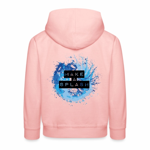 Make a Splash - Aquarell Design in Blau - Kinder Premium Hoodie
