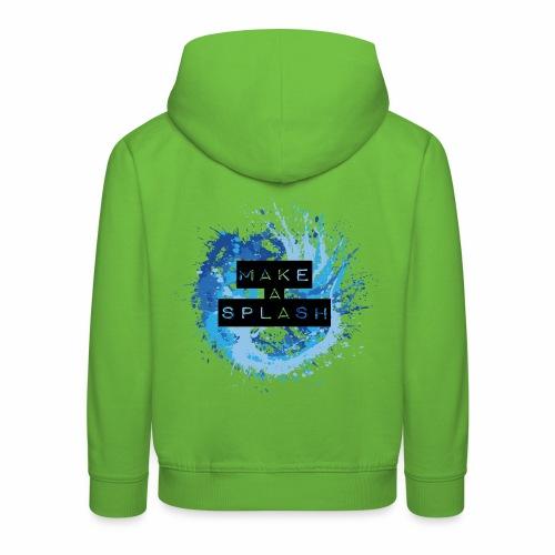 Make a Splash - Aquarell Design in Blau - Kinder Premium Hoodie