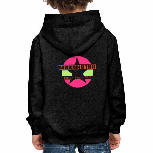 maranatha rosa-grün - Kinder Premium Hoodie