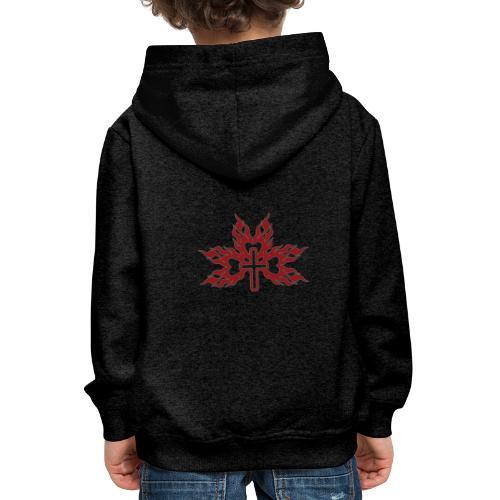 Cross with flaming hearts 01 - Kids' Premium Hoodie