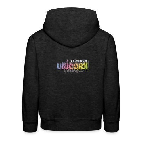 Undercover Unicorn - Pull à capuche Premium Enfant
