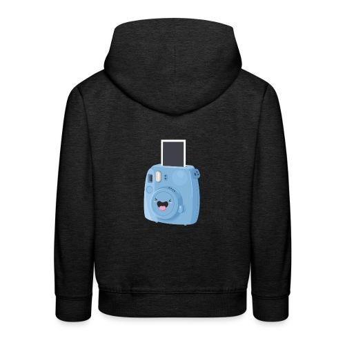 Appareil photo instantané bleu - Pull à capuche Premium Enfant