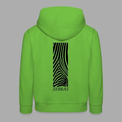 zebras - Kids' Premium Hoodie