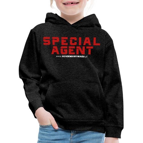 Emblemat Special Agent marki Akademia Wywiadu™ - Bluza dziecięca z kapturem Premium
