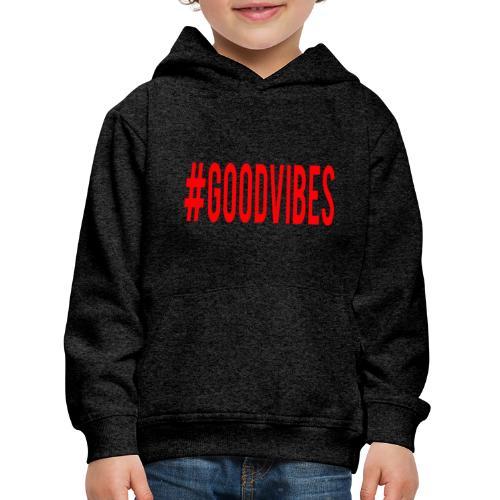 GOODVIBES_RED - Felpa con cappuccio Premium per bambini