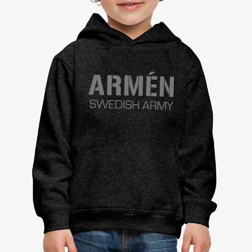 ARMÉN -Swedish Army - Premium-Luvtröja barn