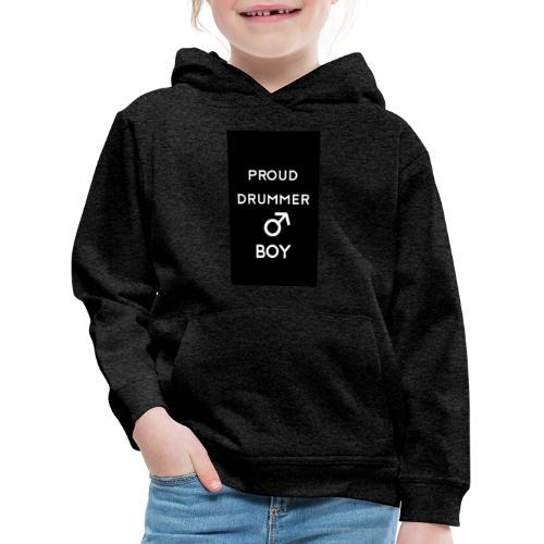 Proud drummer boy black - Premium hættetrøje til børn