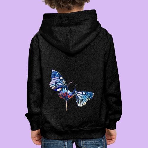 Coppia di farfalle - Felpa con cappuccio Premium per bambini