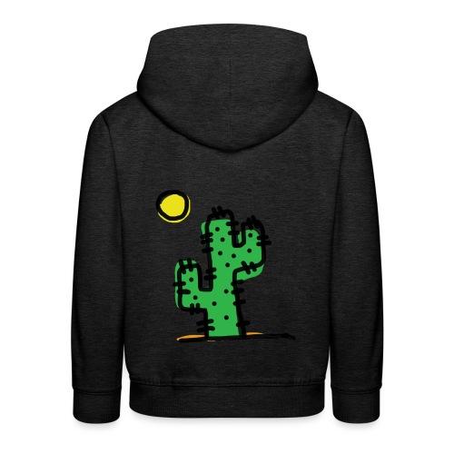 Cactus single - Felpa con cappuccio Premium per bambini