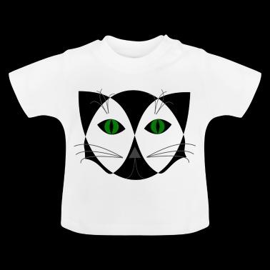 cara de gato - Camiseta bebé