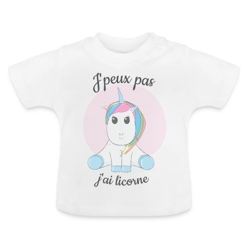 J'peux pas j'ai licorne - T-shirt Bébé