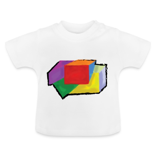 boxes with stroke - Baby T-Shirt