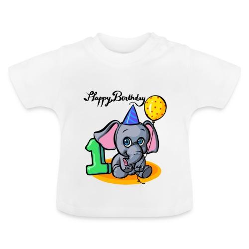Happy Birthday Geburtstag Elefant - Baby T-Shirt