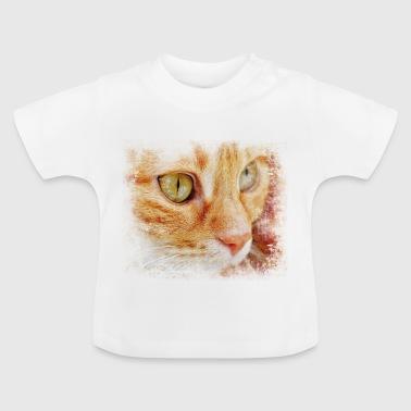 Cara de un gato - Camiseta bebé