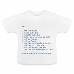 Babyankreuzzettel - Baby T-Shirt
