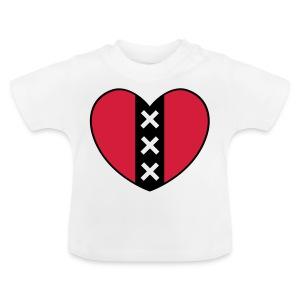 Hart met het symbool van de stad Amsterdam - Baby T-shirt