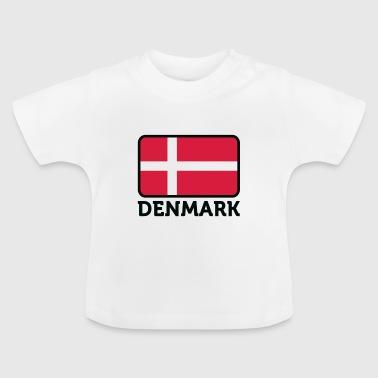 Danmarks nasjonale flagg - Baby-T-skjorte