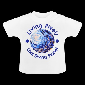 Living Pixels, Cool Diving Planet, Tauchen - Baby T-Shirt