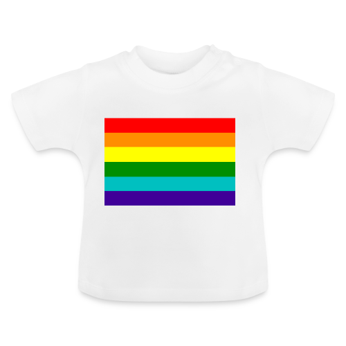 Gay pride rainbow vlag - Baby T-shirt