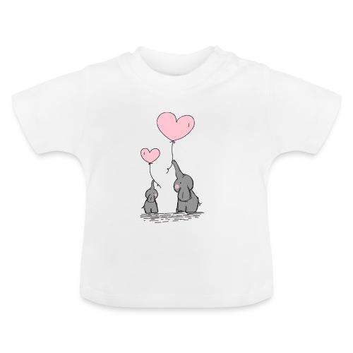 Éléphant Amoureux - T-shirt Bébé
