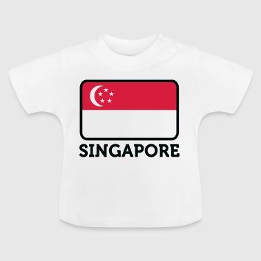 Nasjonal flagg av Singapore - Baby-T-skjorte