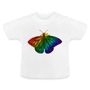 Regenboog vlinder - Freedom, Love en Happiness - Baby T-shirt