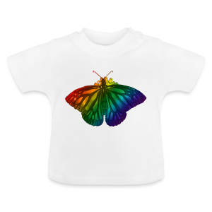 Regenboog vlinder - Freedom, Love en Happiness - Baby T-shirt