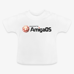 PoweredByAmigaOS Black - Baby T-Shirt