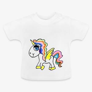 Buntes lässiges Einhorn - Baby T-Shirt