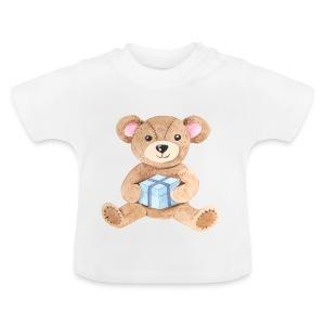 Baby Bib Teddy bear with gift - Baby T-Shirt