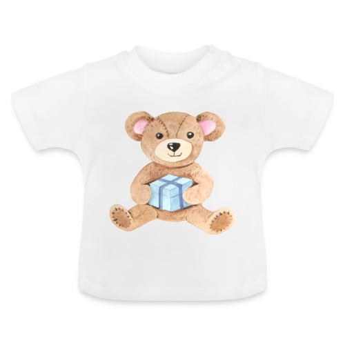 Baby Bib Teddy bear with gift - Baby T-Shirt