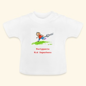 Fartypants running kid - Baby T-Shirt