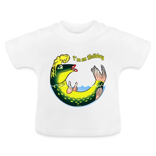 10-39 LADY FISH HOLIDAY - Haukileidi lomailee - Vauvan t-paita