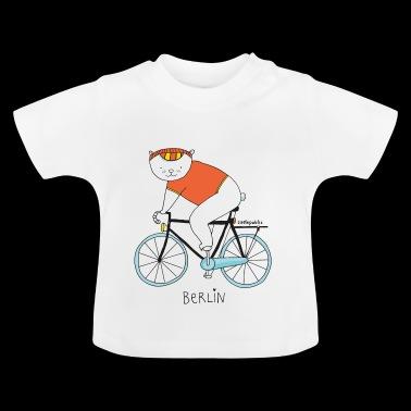 Berliner Bär mit Fahrrad | farbig | littlepublic - Baby T-Shirt