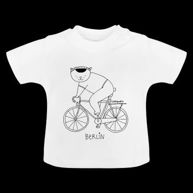 Berliner Bär auf dem Fahrrad | zum ausmalen - Baby T-Shirt