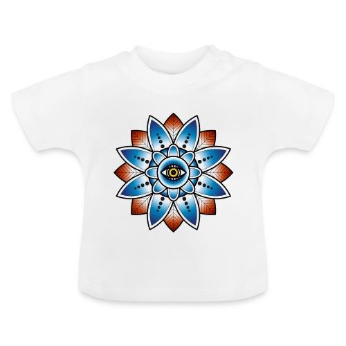 Psychedelisches Mandala mit Auge - Baby T-Shirt