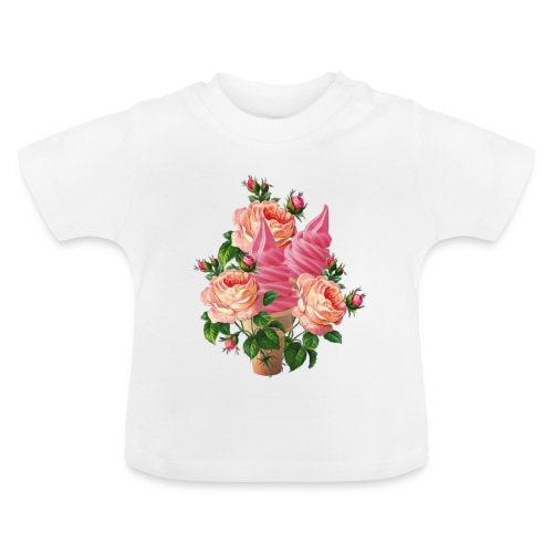 bouquet di fiori e gelati - Maglietta per neonato