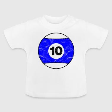 Biliardo Biliardo blu dieci esimo epoca - Maglietta per neonato
