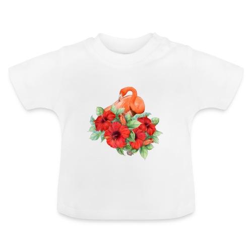 Fenicottero con ibisco - Maglietta per neonato