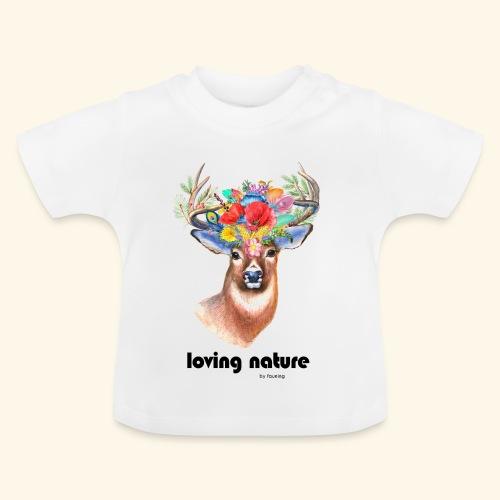 Ciervo con flores - Camiseta bebé